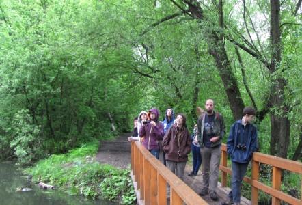 6 мая восьмиклассники проходили орнитологическую практику